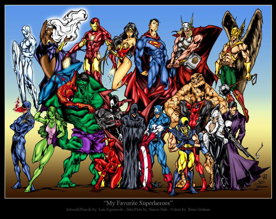 My Favorite Superheroes by BrianGraham