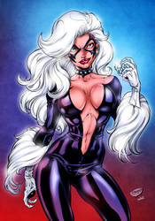 Black Cat 90's Version by BrianKeithComicArt