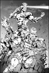 Cable and Cyclops (INKS) Artwork by Marcio Abreu