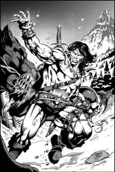Conan the Barbarian (INKS) Artwork by Marcio Abreu