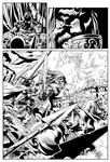King Conan Story Page Sample (Page 12 INKS)