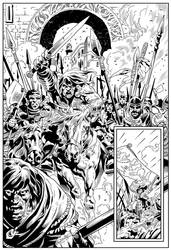 King Conan Story Page Sample (Page 11 INKS)