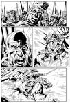 King Conan Story Page Sample (Page 13 INKS)