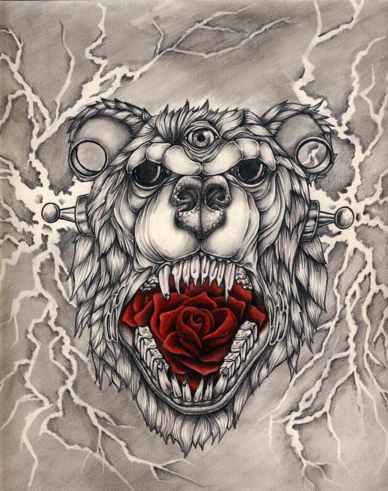 Scary Bear by RILLAH on DeviantArt