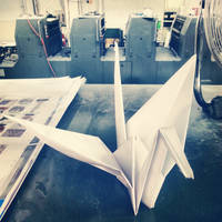 How to blow time at work-origami crane