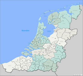 Districts of the alt-historical Netherlands (v2) by altmaps