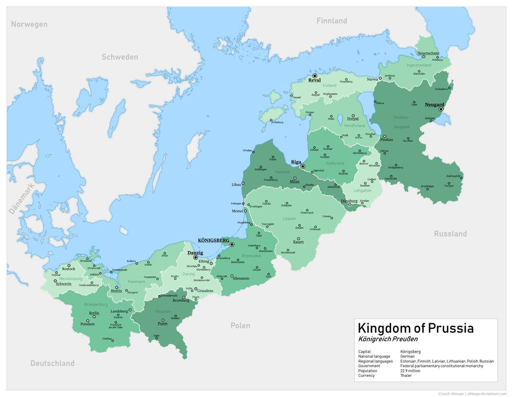 An alternate Kingdom of Prussia by altmaps on DeviantArt on franco-prussian war, teutonic knights, wilhelm ii, german emperor, kingdom of axum map, prussia today map, crimean war, prussia on world map, union of soviet socialist republics map, united kingdom, king of prussia mall map, east prussia 1945 map, napoleonic wars, german confederation, prussia 1861 map, democratic republic of the congo map, austrian empire, german empire, west prussia map, prussia history map, kingdom of prussia flag, holy roman empire, kingdom of prussia 1815, confederation of the rhine map, east prussia, austro-prussian war, weimar republic, battle of waterloo, kingdom of prussia history, kingdom of denmark map, grand duchy of lithuania map, prussia 1853 map, prussia on a map, prussia flag map, kingdom of prussia coat of arms, unification of germany,