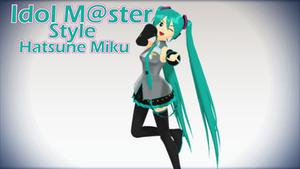 Idol M@ster style Hatsune Miku