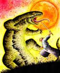 Samurai vs lizard