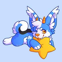 Kang with a star plush