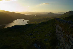 Looking down on Glanmore Lake by wafitz