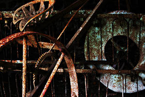 Abandoned Farm Equipment by wafitz