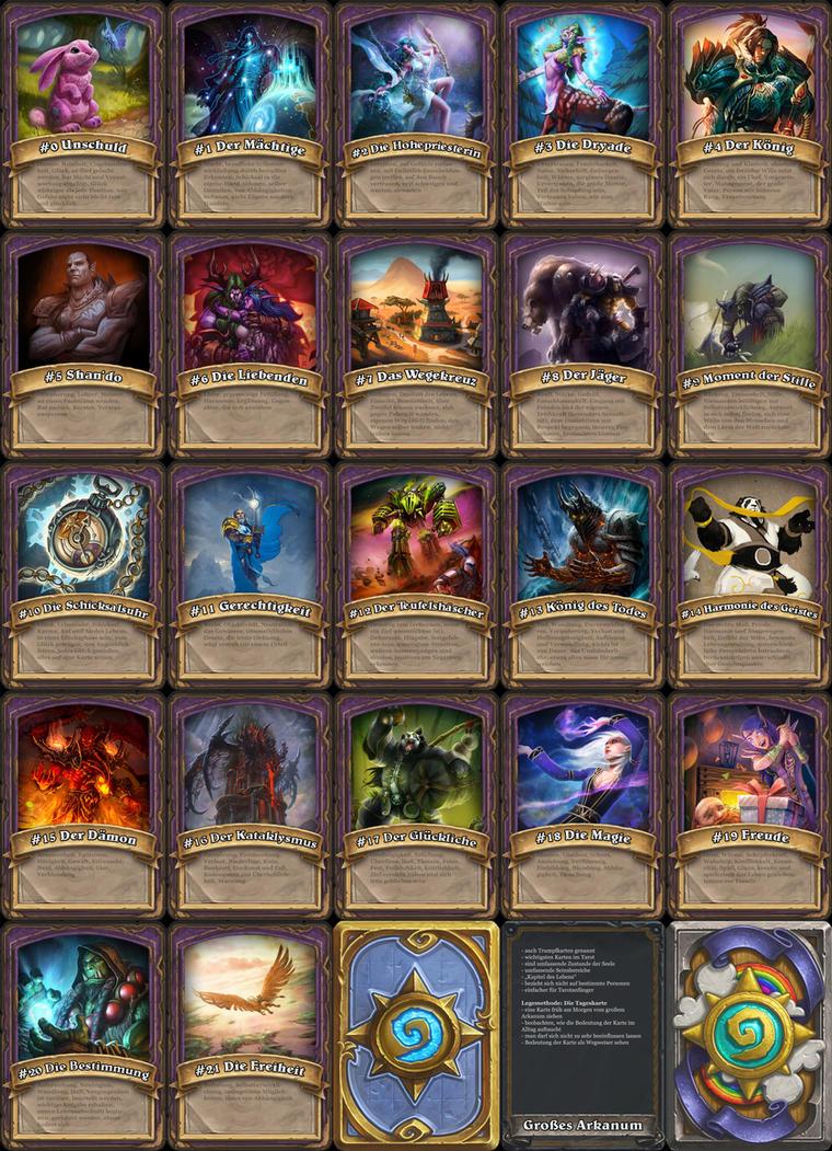 Warcraft Tarot - Grosses Arkanum by Poronyos-II