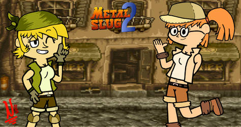 Metal Slug 2: Eri and Fio by NatoMX