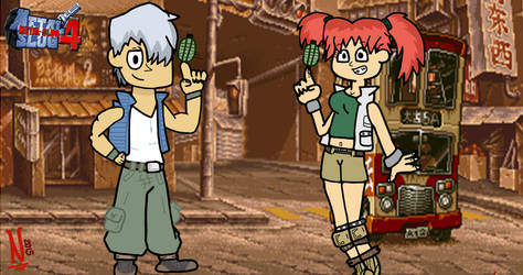 Metal Slug 4: Trevor and Nadia by NatoMX