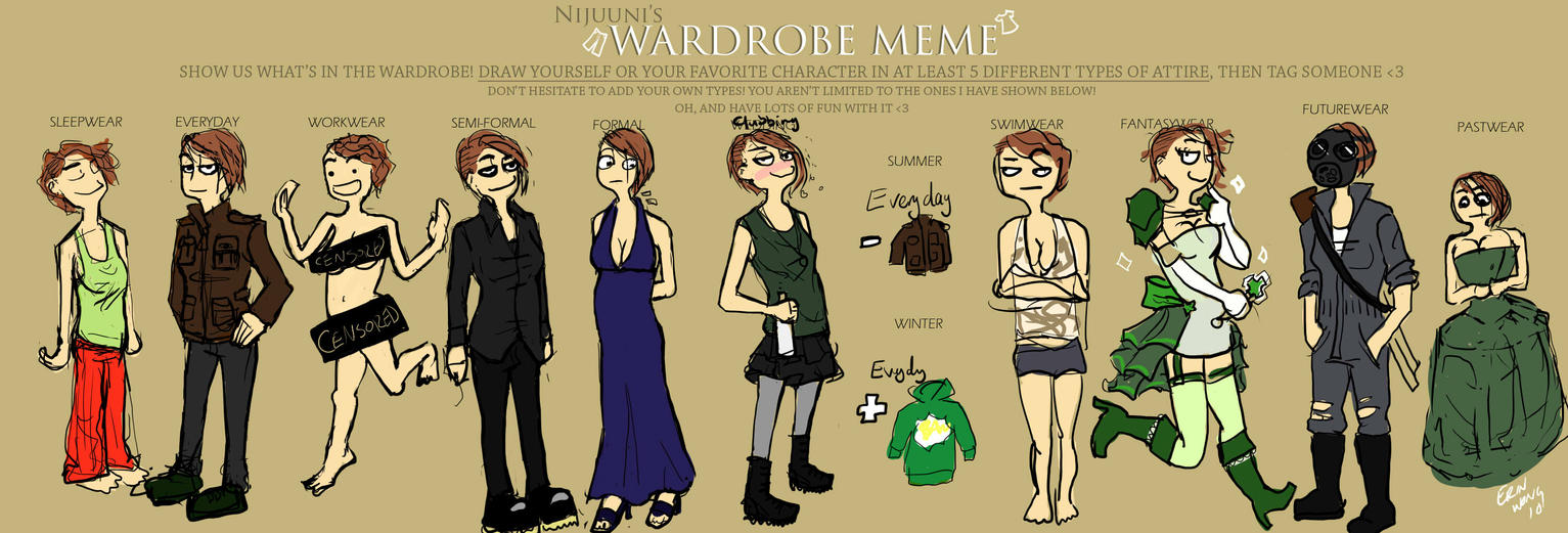 Wardrobe Meme by LazyGreen