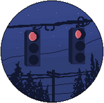 Traffic Lights At Night by boyology