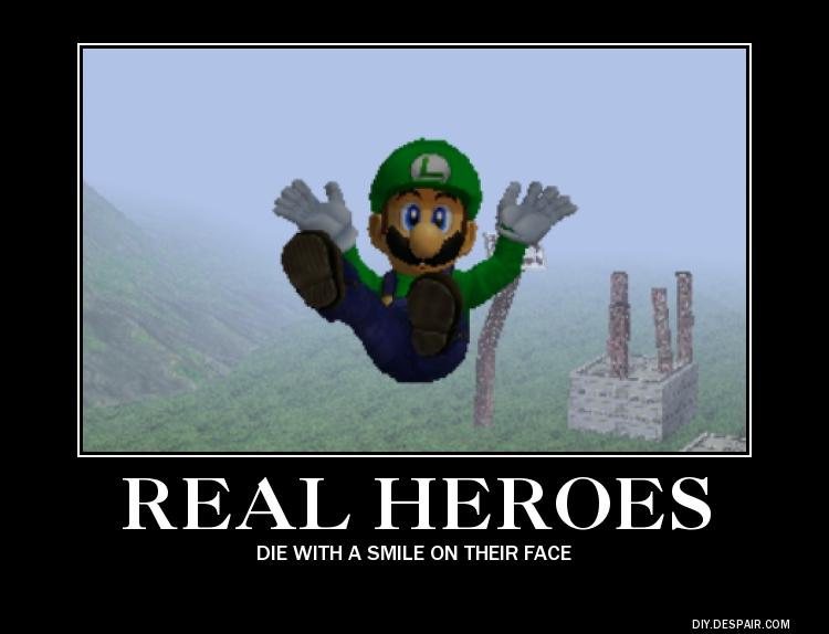 Luigi is a true hero by idris2000