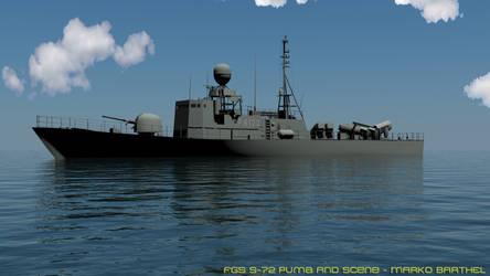 FGS S-72 Puma - Water Scene - by Bartolomeus755