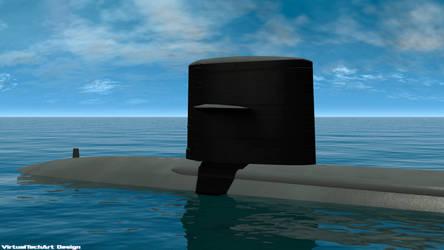 USS Cavalla 3ds Max 2013 Scene Render