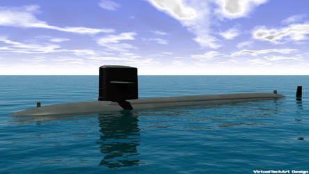USS Cavalla 3ds Max 2013 - Full view by Bartolomeus755