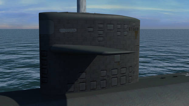 USS Augusta SSN 710 - detailed sail render