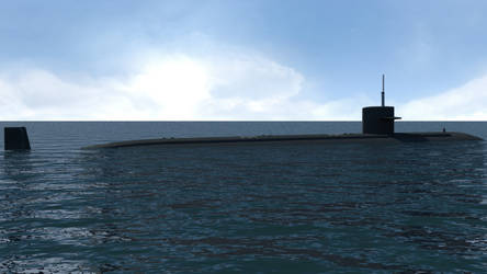 USS Augusta SSN 710 render