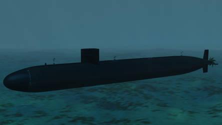 USS Augusta SSN 710 by Bartolomeus755