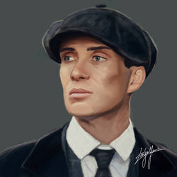 Cillian Murphy as Thomas Shelby (Peaky Blinders) by WickedDogg