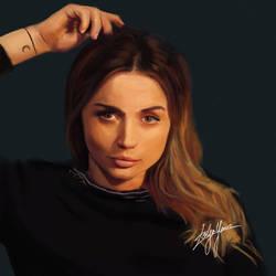 Ana de Armas (Speed Painting) by WickedDogg
