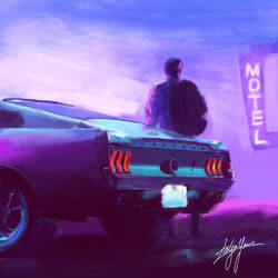 Driver with his Mustang by WickedDogg