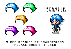 {Maplestory} Mixed Beanies by SoarDesigns