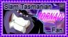 Slam Tasmanian stamp by 6t76t