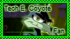 Tech E. Coyote stamp by 6t76t