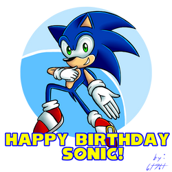 Happy Birthday 27th Sonic by 6t76t