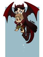 Bilbo and Smaug 2 by aulauly7