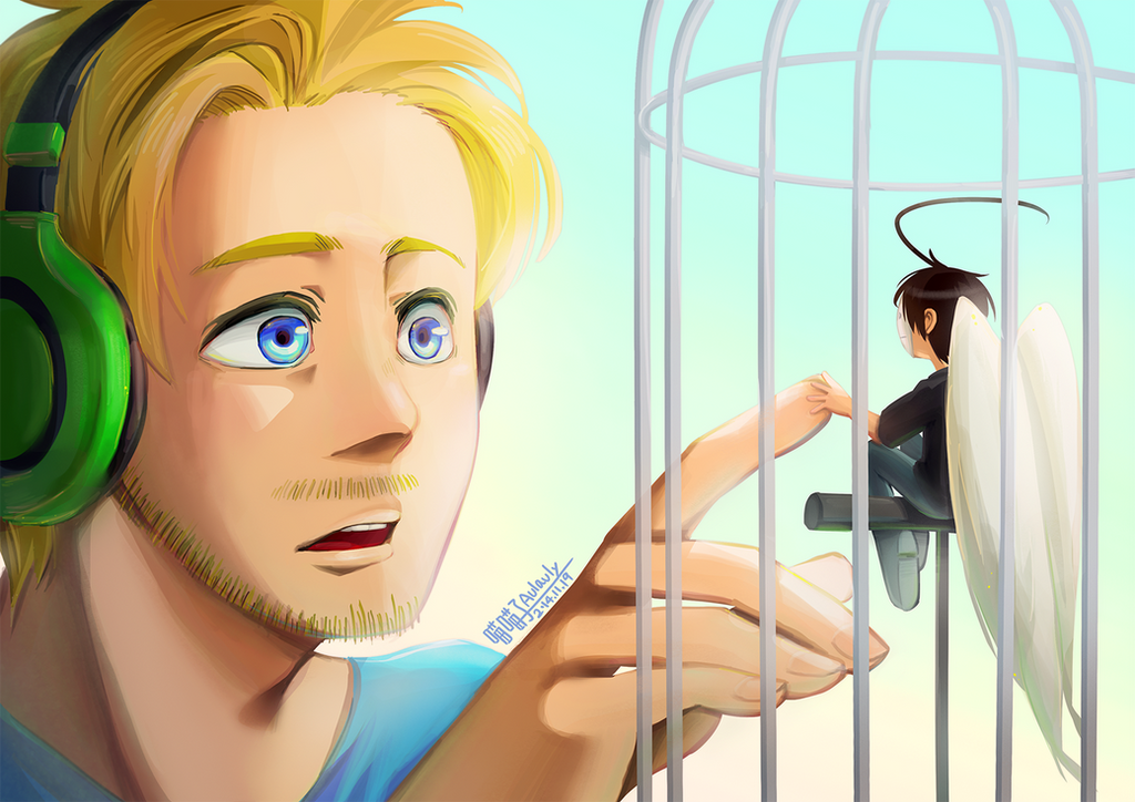 PewdieCry_The birdcage by aulauly7