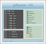 DeviantART Gallery Icons + .PSD