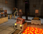 Minecraft Wallpaper - Enderman Laboratory [C4D]