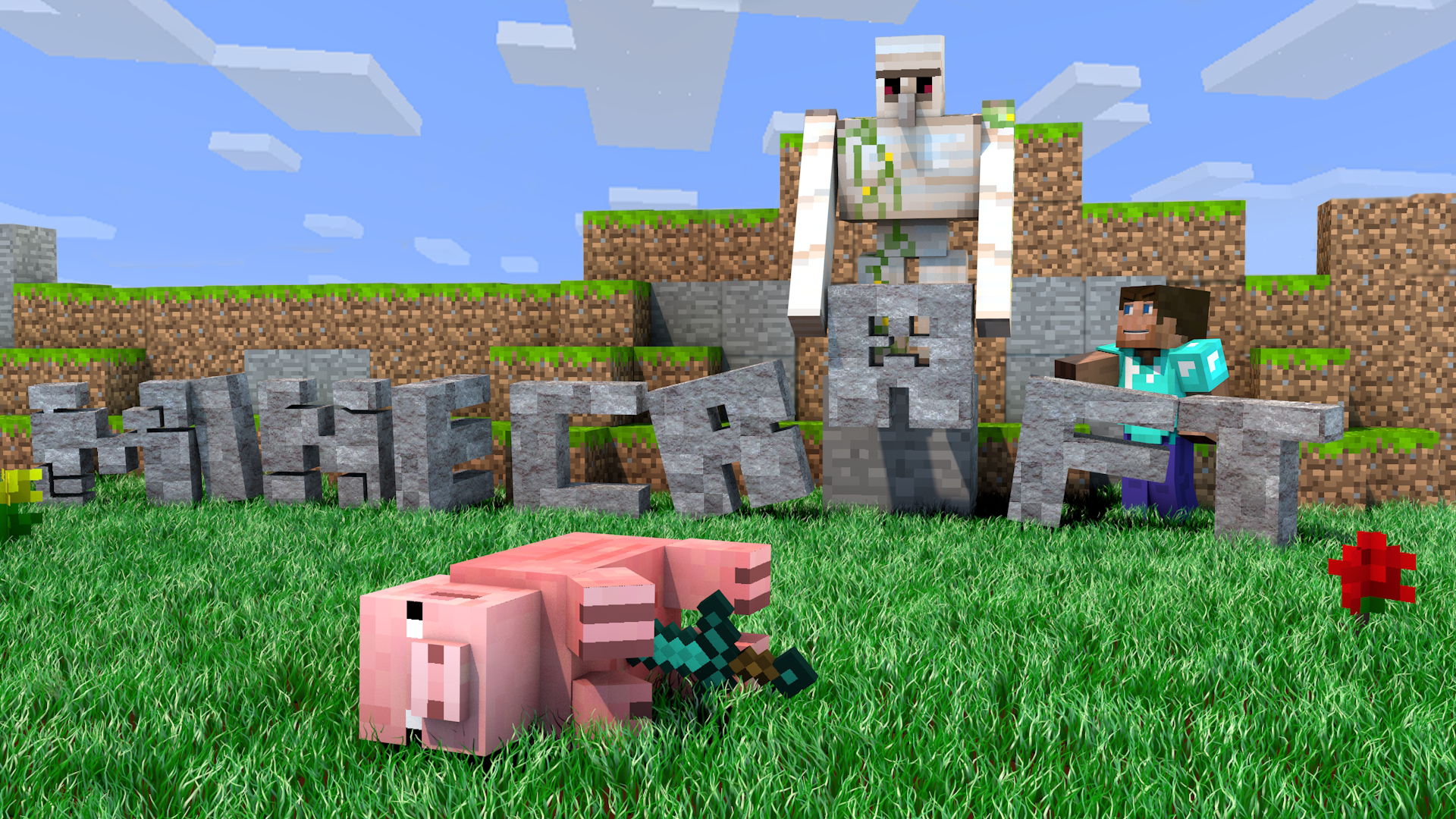 Minecraft Wallpaper Murdered Pig 1920x1080 By Deztizzy On
