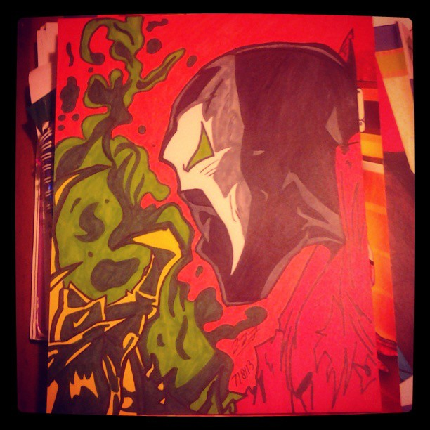 Sharpie drawing of Spawn by BrandiSwick227