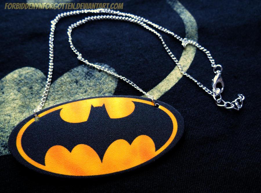 Batman Necklace by Forbiddenynforgotten