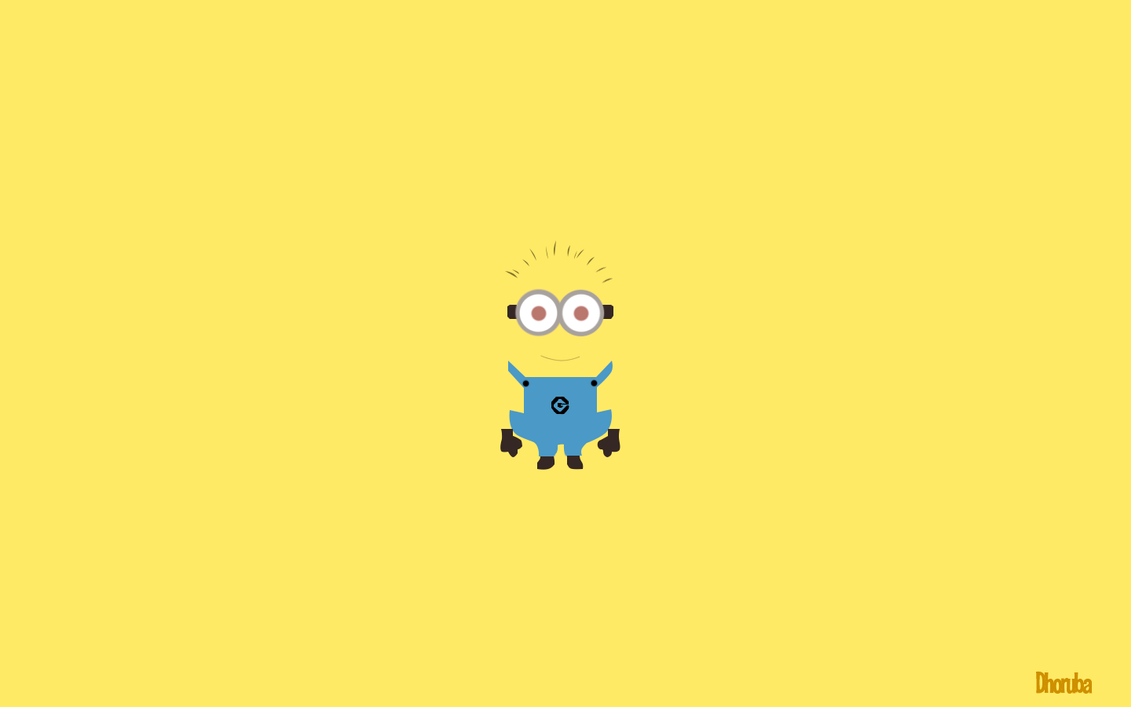despicable me (minion minimalist wallpaper)dhoruba4u on deviantart