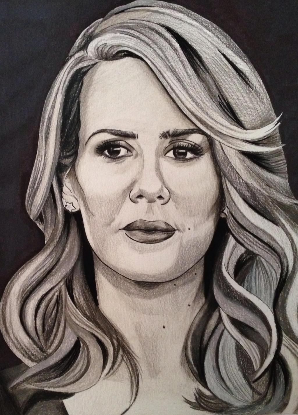 Sarah Paulson drawing