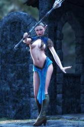 Sexy Elf Mage by FantasyErotic