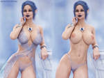 Elf Berina - with and without clothes by FantasyErotic