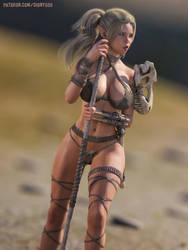 Elvish Warrior Mylin by FantasyErotic