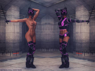 Space Warrior Girl Clothes On-Off by FantasyErotic