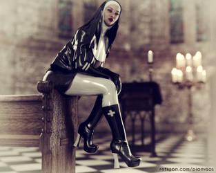 Vintage Fetish Nun by FantasyErotic