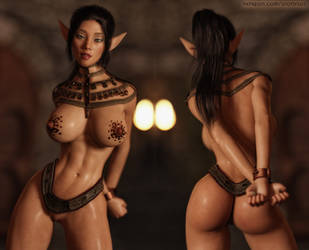 Elf Nia by FantasyErotic